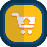 Shoppingcart-07-arrow-up icon