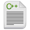 Text x c plus plus icon