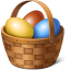 Egg basket icon
