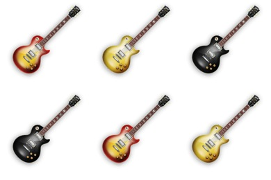 Les Paul Electric Guitar Icons