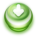 Button Green Arrow Down icon
