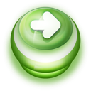 Button Green Arrow Right icon