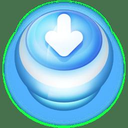 Button Blue Arrow Down icon