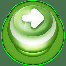 Button Green Arrow Right icon
