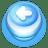 Button Blue Arrow Left icon