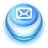 Button Blue Mail icon