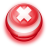 Button Red Cancel icon