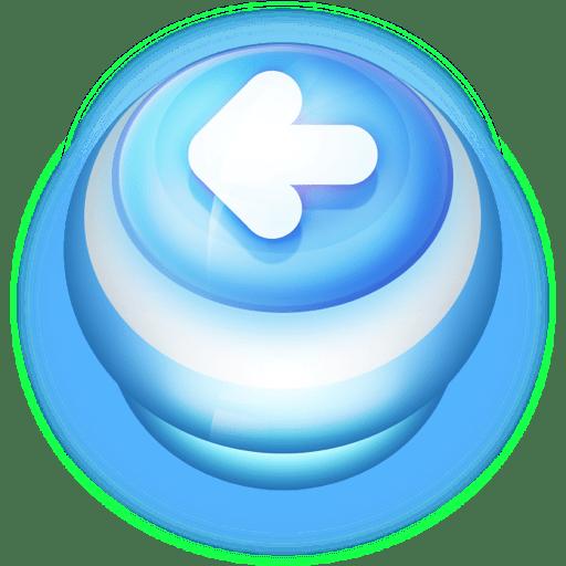 Button-Blue-Arrow-Left icon
