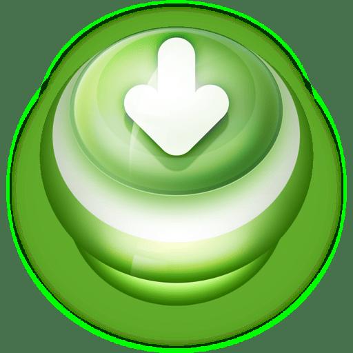 Button-Green-Arrow-Down icon