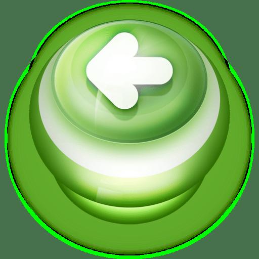 Button-Green-Arrow-Left icon