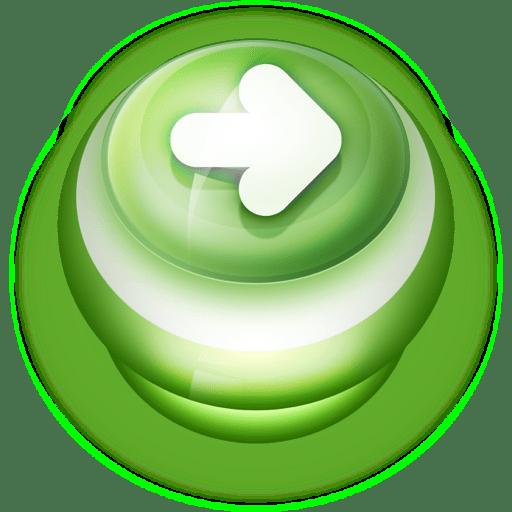 Button-Green-Arrow-Right icon