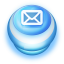 Button-Blue-Mail icon