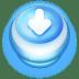 Button-Blue-Arrow-Down icon