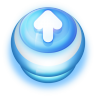 Button-Blue-Arrow-Up icon