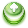 Button-Green-Arrow-Up icon