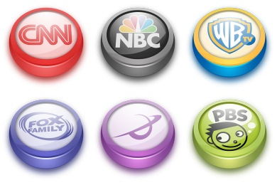 TV Buttons Icons