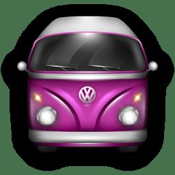 Vw Bulli Purple Icon Vw Bulli Iconset Wackypixel