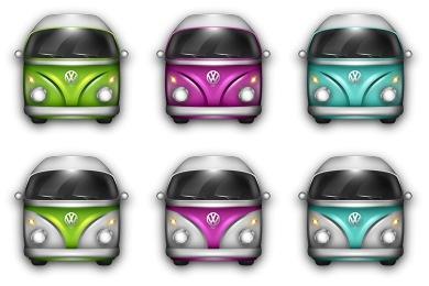 VW Bulli Icons