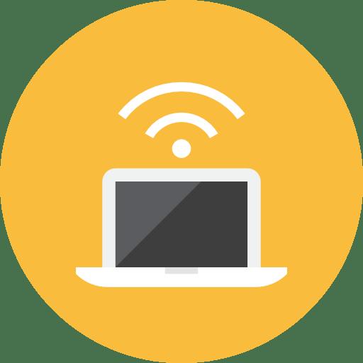 Laptop-Signal icon