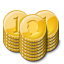 Gold Coin Stacks icon