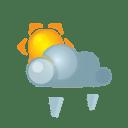 Sun darkcloud heavygrain icon