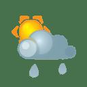 Sun darkcloud heavyrain icon