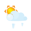 Sun lightcloud grain icon