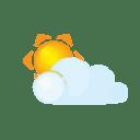 Sun lightcloud icon