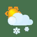 Sun lightcloud sleet icon