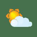 Sun littlecloud icon