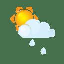 Sun littlecloud rain icon