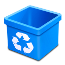 Trash aqua empty icon