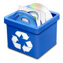Trash blue full icon
