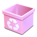 Trash pink empty icon