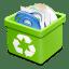 Trash green full icon