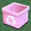 Trash pink empty icon