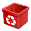 Trash-red-empty icon