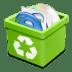 Trash-green-full icon