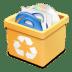 Trash-yellow-full icon
