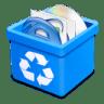 Trash-aqua-full icon
