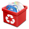 Trash-red-full icon