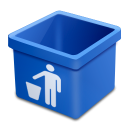 Blue trash empty icon