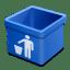 Blue-trash-empty icon