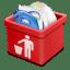 Red-trash-full icon
