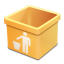 Yellow trash empty icon