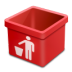 Red-trash-empty icon