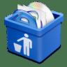 Blue-trash-full icon