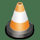 Vlc cone black icon