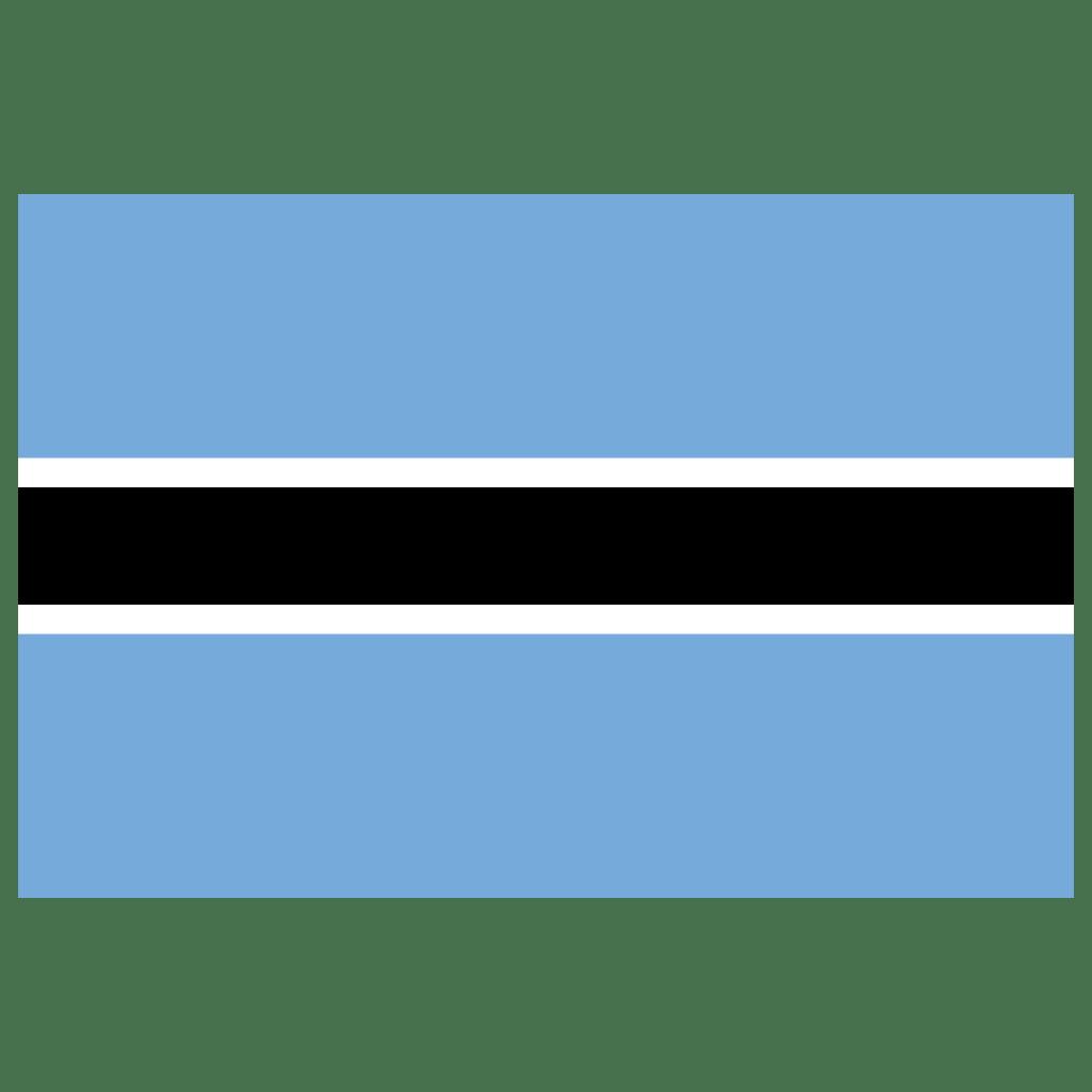 Bw Botswana Flag Icon Public Domain World Flags Iconset Wikipedia Authors