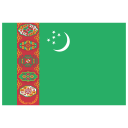 TM Turkmenistan Flag icon